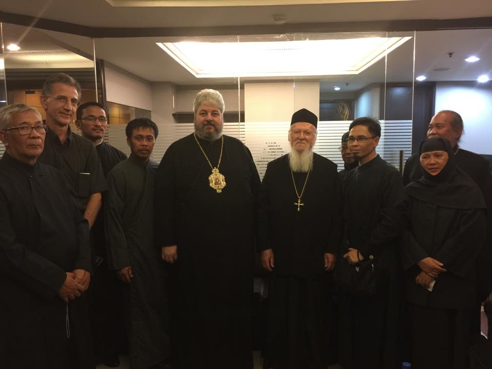 The priests and the Nuns of Philippines with Ecumenical Patriarch and Metropolitan Nektarios